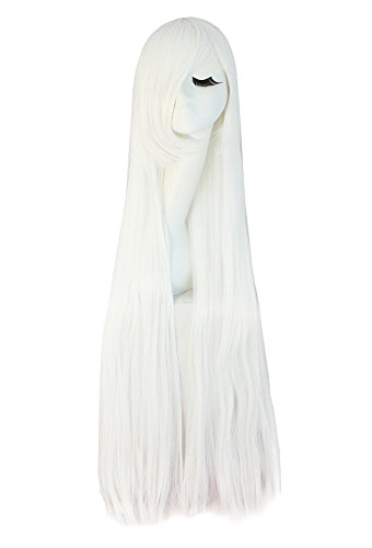 e Kostüm lange gerade Cosplay Perücke Partei Perücke (Weiß) ()