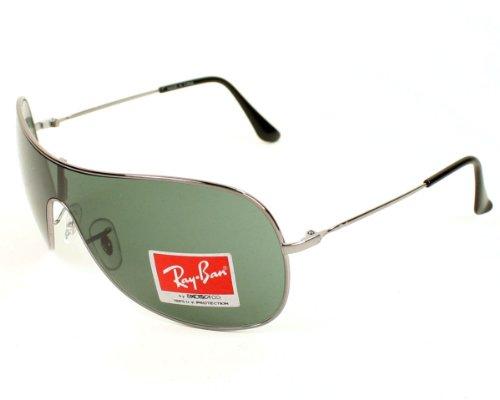 Ray-Ban Unisex Metallic Sonnenbrille, Gr. One Size, Mehrfarbig (Gunmetal/ Apx Grey Green)