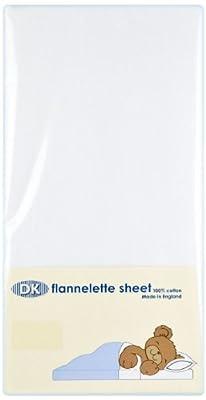 DK Pram/Crib Flannelette Sheet (White)