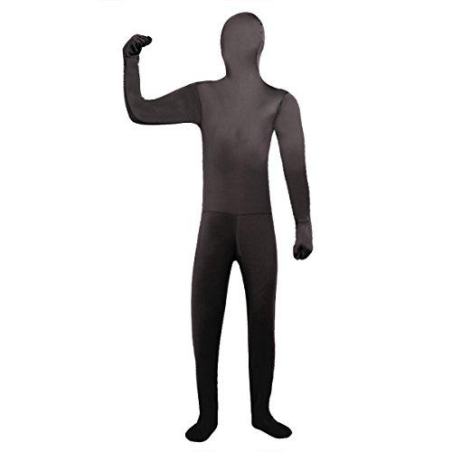 Freebily Unisex Bodysuit Anzug Ganzkörperanzug Kostüm Overall Kostüm Gr.L - XXL Schwarz/Blau / Gelb/Rot / Grün/Rose / Violett Schwarz L