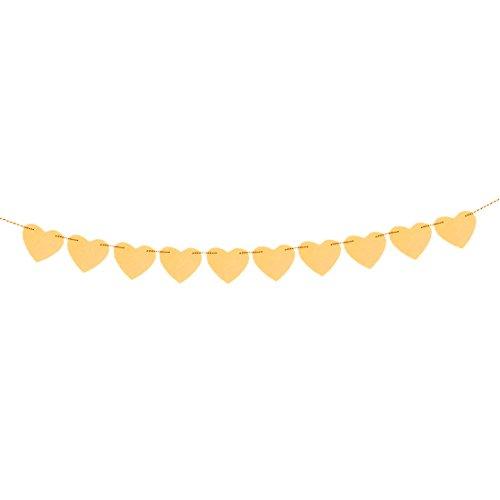 Herz geformt Party Dekor Foto Requisit Bunting Banner Gelb 3 Meter Länge (Gelben Banner)