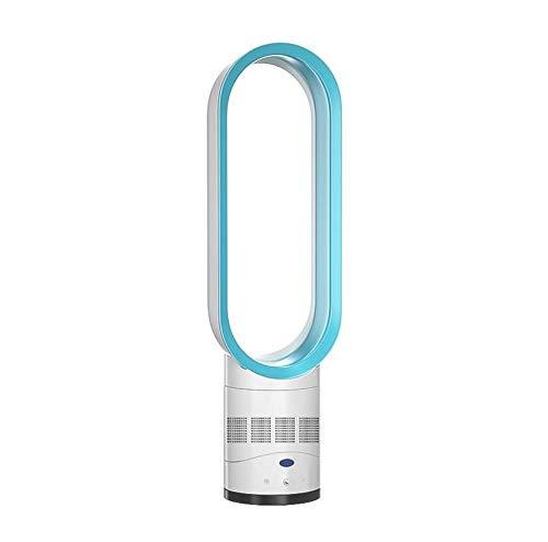 Coolseason 16 Zoll Bladeless-Lüfter/blattloser Lüfter, Desktop-Luftkühler mit Fernbedienung - Drehen Sie Sich zurück und weiter -Leiser Lärm - Sicherheitslüfter,Silver - Zurück Drehen