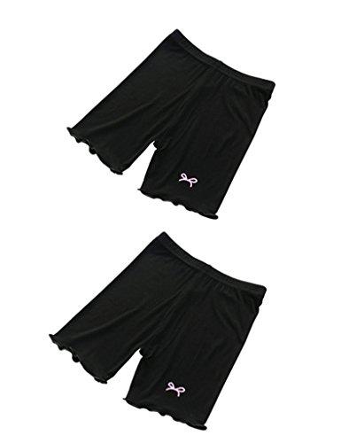 Astage Mädchen Unterwäsche Unterhosen Sportliche ShortsSchwarz