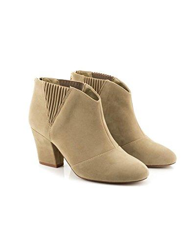 Maria Mare 2016 I Basic Calzado Señora, Scarpe con Tacco e Punta Chiusa Donna Beige