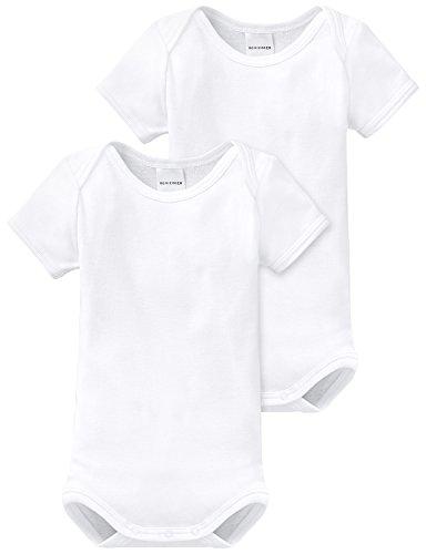 Schiesser Baby - Jungen Body 2 er Pack 220153-100, Gr. 56 (1M), Weiß (100-weiss)
