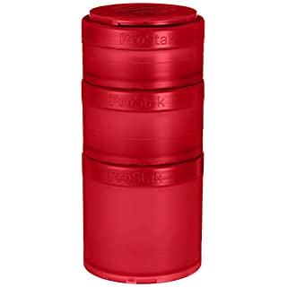 BlenderBottle ProStak Expansion Pak - 3 Pak Container (250ml, 150ml und 100ml) inklusive 1. Pillenfach - pink