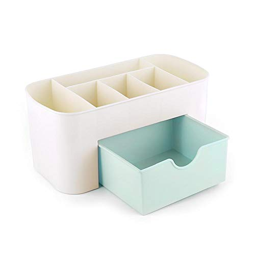 Vanpower Multi-function Cosmetic Storage Box Drawer Desktop Jewelry Organizer (Blue) -