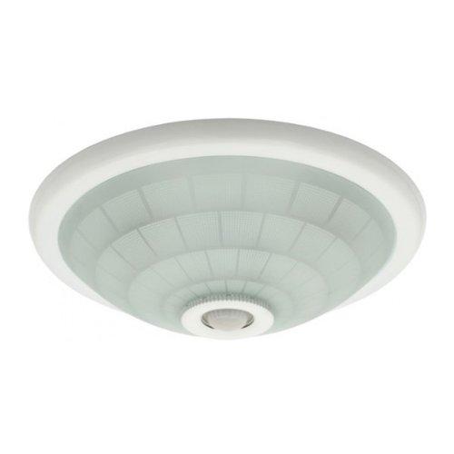 EU Plafonnier avec détecteur de mouvement pour ampoules LED ou ESL 2 x 40 Watt Blanc