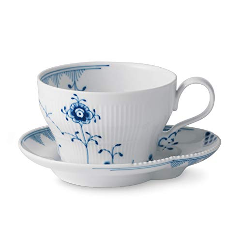 Royal Copenhagen Blue Elements Cup and Saucer 26cl Royal Copenhagen Elements