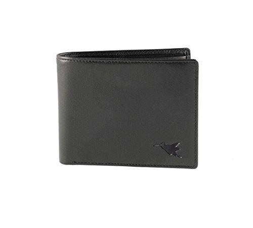 Monedero para 2 divisas de Nomalite | Cartera de piel / cuero vegan con bloqueo RFID, hombre y mujer, con 4 huecos tarjeta de crédito y 2 compartimentos monedas y billetes. Ideal para trabajo y viaje.