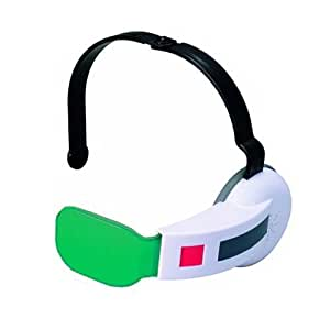 Bandai Dragon Ball Z Saiyan Scouter W/ Sound One Size Fits All- Green Lens