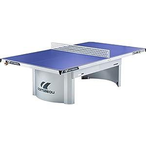 Cornilleau Tischtennisplatte PRO 510 Outdoor | Wetterfeste Melamin-Platte, Untergestell aus feuerverzinktem Stahlblech, Mattop-Beschichtung | Plattenstärke 7 mm | 77 kg | Blau o. Grau