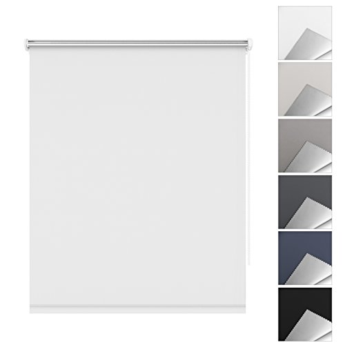 Sbartar tenda a rullo oscurante e termica isolante facili da montare senza viti per finestre o porte - 75 x 170 cm, bianco