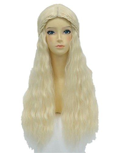 aicos Damenperücke cosplaymix 59,9cm 60cm Beauty Prinzessin Aurora Light Gold Haar Perücke