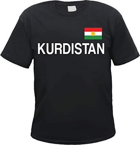 Kurdistan T-Shirt mit Flagge Schwarz M