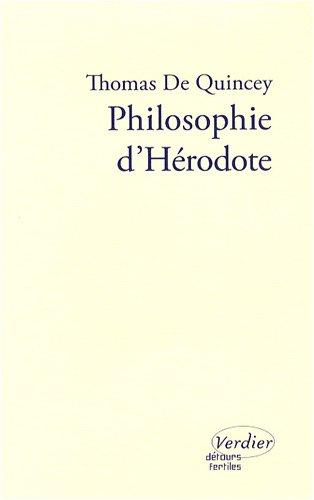 Philosophie d'Hérodote par Thomas de Quincey
