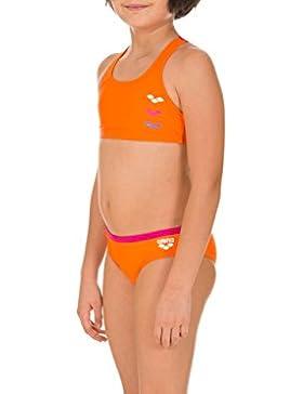 Arena Bikini Astrum - Bañador de dos piezas para niña, color naranja (mango, rose-violet), talla 10 años (140...
