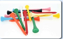 1000 mélangés colorés en bois 70 mm (2 3/4 Tees de Golf