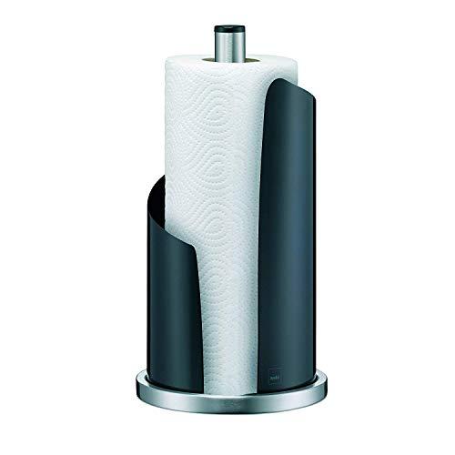 Kela 11200 Küchenrollenhalter, 15 cm Durchmesser, Edelstahl/Metall, Stella, Schwarz