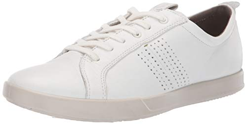 ECCO Herren COLLIN2.0 Sneaker, Weiß (White 1007), 43 EU - Weiße Glatt-leder-schuh