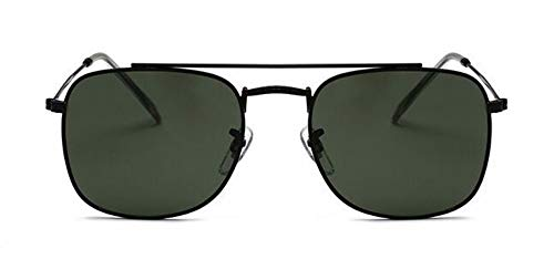 WSKPE Sonnenbrille Sonnenbrille Men Square Gläser Für Frauen Sonnenbrille Black Frame Dunkle, Grüne Linse