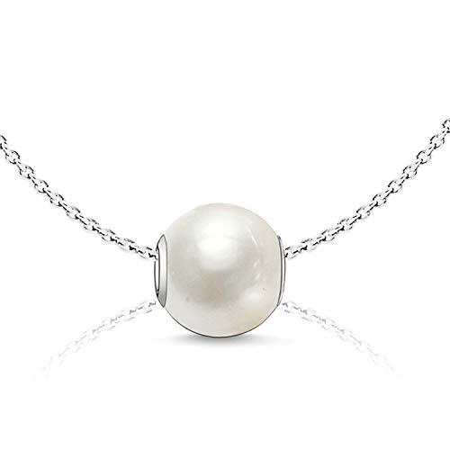 Sabo Hals-Kette Charm Perle K0004 echt Silber 925 - Geschenke für besondere Frauen