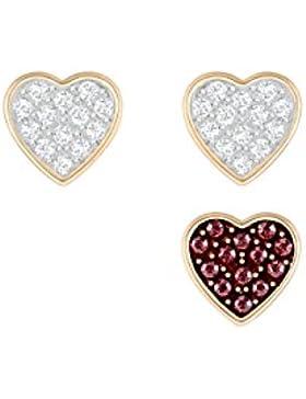 Swarovski Crystal Wishes Heart Ohrringe, Rot