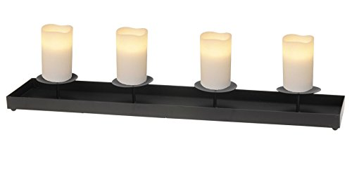 XXL Adventskerzenhalter 78 cm aus Metall - Farbe: schwarz - Kerzenhalter für 4 Kerzen