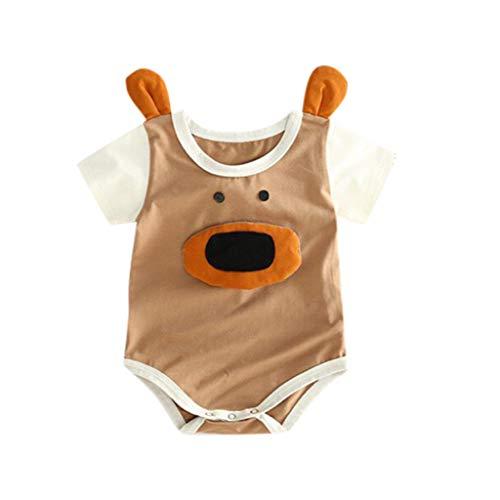Bodysuit Strampler Unisex Kleinkind Cartoon gedruckt 3D Body kostüm Kleidung Baby Geschenk für Papa ()