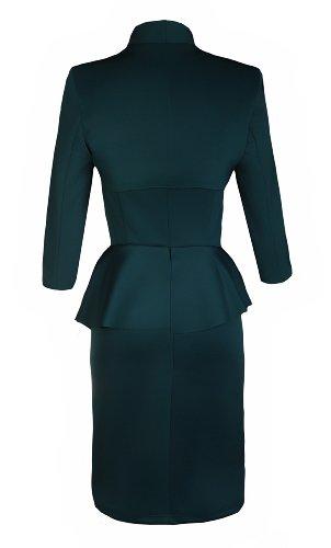 Apparel Outlet - Robe de soirée à volant avec boléro assorti - Femme Vert