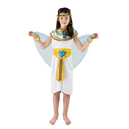 Bodysocks Fancy Dress Ägyptischer Pharao Königin Cleopatra Kostüm für Kinder (7-9 ()