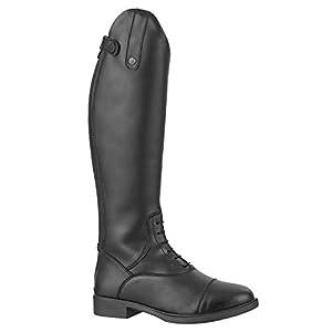 Stiefel »KIDS FUN« mit Reißverschluss. Bequeme Stiefel aus Leder-Imitat mit atmungsaktivem Mesh-Lining | Kinder-Reitschuh, tolle Passform, feuchtigkeitsabsorbierend | Größen 29-41 | Farbe: Schwarz