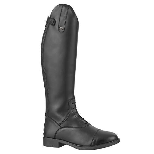 Stiefel »KIDS FUN« mit Reißverschluss. Bequeme Stiefel aus Leder-Imitat mit atmungsaktivem Mesh-Lining   Kinder-Reitschuh, tolle Passform, feuchtigkeitsabsorbierend   Größen 29-41   Farbe: Schwarz -