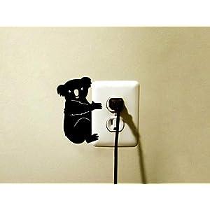 Niedlich Und Niedlich Koalabär Lichtschalter Aufkleber Jugendzimmer Wohnaccessoires Kunst Vinyl Aufkleber Ga363 @ Purple_17Cm