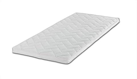 Gelschaum-Topper Breckle Robby 7-Zonen-Bohrung Gesamthöhe 7 cm, mit waschbarem Bezug, RG 60 - Grösse