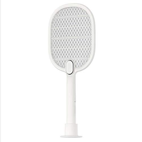 NUO-Z Elektrischer Moskito-Klatscher, Wieder aufladbarer Mörder-Stromschlag LED-Umweltschutz-Moskito-Mörder USB White (Fallen Wieder Vorhang)