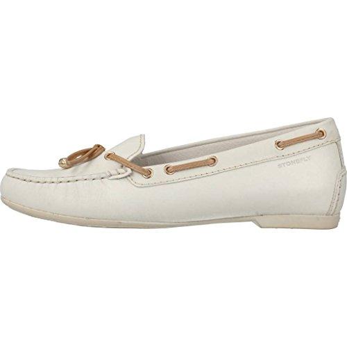 Mocassini donna, colore Bianco , marca STONEFLY, modello Mocassini Donna STONEFLY C113 27 Bianco Bianco