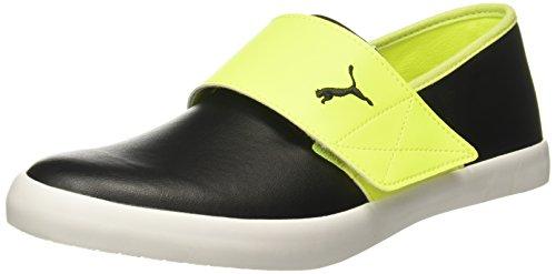 Puma-Unisex-El-Rey-Milano-Ii-Dp-Safety-Yellow-Black-Steel-Gray-Loafers