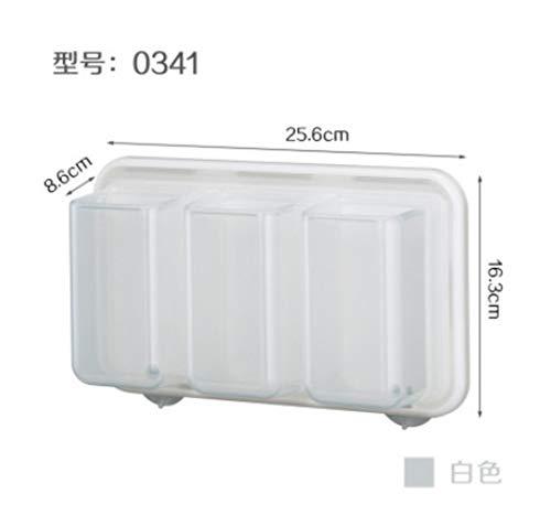 HDOUBR Cuisine Rouleau de Papier Porte-Papier Porte-Serviette en Plastique Wrap Rack de Stockage réfrigérateur paroi latérale Aimant Rack de Stockage Blanc