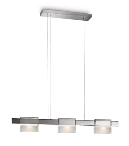 Philips InStyle LED-Pendelleuchte Uturn 3-flammig dimmbar 6,5 W, chrom 407891116
