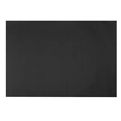 sourcing map BBQ Grillmatten Antihaft Wiederverwendbar Grillzubehör 60cmx40cm schwarz -