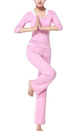 Frauen Modal Slim Yoga Anzug, Sportbekleidung 3 Stück Set Fitness Tops Racerback + Hosen Lauf Gym Outdoor Jogging Outfits Activewear