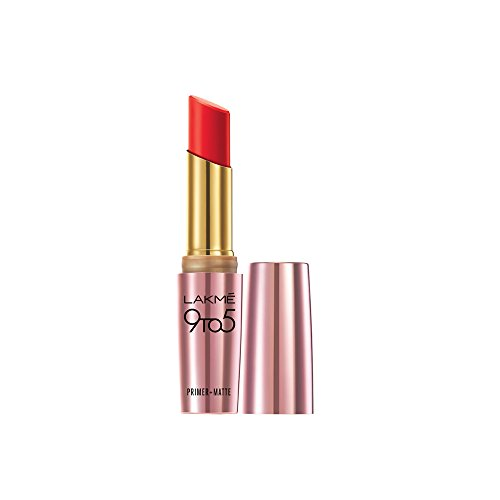Lakme 9 to 5 Matte Lip Color, Red Letter MR9, 3.6 g