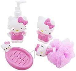 Olrada Kids Bathroom Soap Dispenser Pink Color