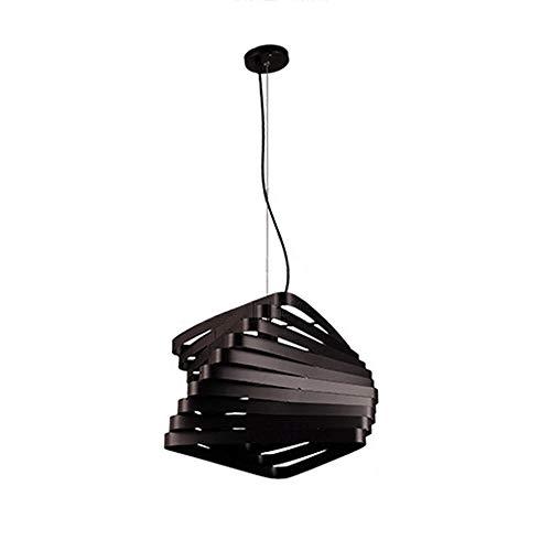 Postmodernen Stil Kronleuchter Schmiedeeisen Lack Kronleuchter Schlafzimmer Wohnzimmer Esszimmer Kronleuchter Φ25cm H40cm (Farbe : Schwarz)