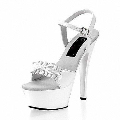 RTRY Donna Pantofole &Amp; Flip-Flops Ciabatte Pvc Summer Party &Amp; Sera Crystal Stiletto Heel Ruby Bianco Nero 5In &Amp; Oltre US5.5 / EU36 / UK3.5 / CN35