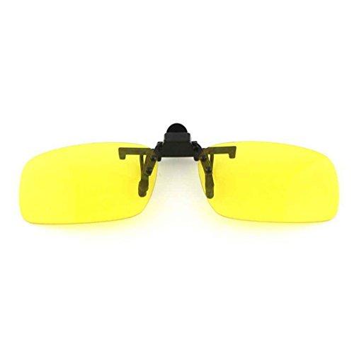 Idyandyans Frauen Männer Clip-On-Brille Flip-Up-Objektiv fährt Sonnenbrille Brille