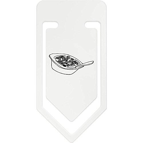 Azeeda 141mm 'Schüssel Müsli' Riesige Plastik Büroklammer (CC00029164)