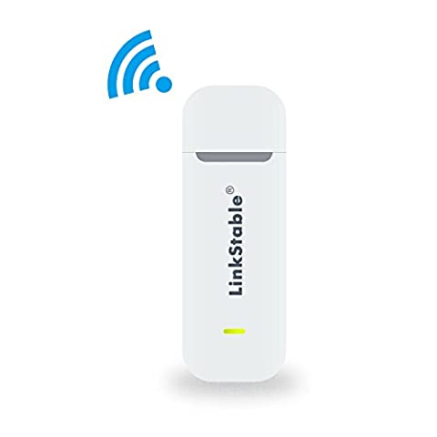 LinkStable Unlocked 4G Mobile WiFi Router - 150 Mbps USB 4G LTE Mobile WiFi Hotspot für EE / O2 / Vadafone - LTE 4G USB Modem WiFi Reise