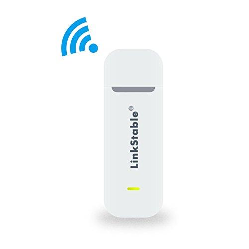 LinkStable Routeur Mobile 4G Internet Key LTE 4G WiFi Hotspot 150Mbps (Blanc)